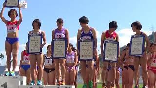 和歌山国体 成年少年女子共通 4×100mR 表彰式 2015年10月6日
