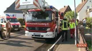 preview picture of video 'Großbrand in Borken: Dachstuhl brannte ab'