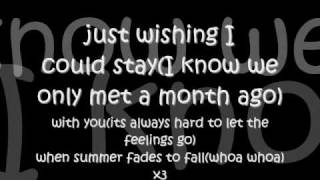 Faber Drive - Summer Fades To Fall - Lyrics