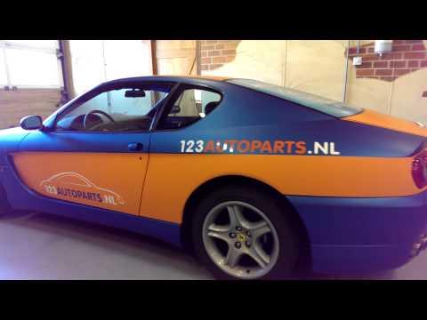 Ferrari 456 in 3M two-tone wrap