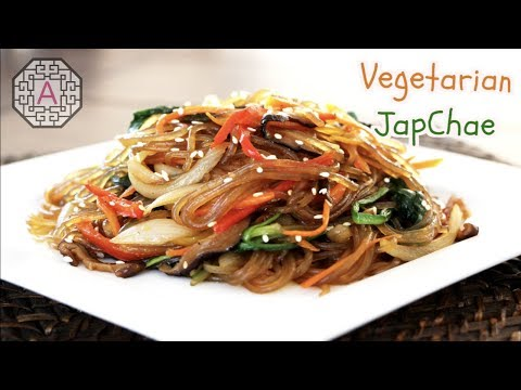 【Vegetarian Food】 JapChae A.K.A Korean Stir-fry Noodles (채식주의 잡채)