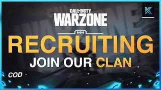 Modern Warfare Clan Recruitment - HOW TO JOIN A WARZONE/COD CLAN 2021
