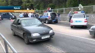 В Сети появилось видео страшной гибели байкера в Ялте