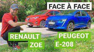 Renault ZOE vs. Peugeot e-208 : duel de stars
