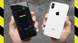 Samsung Galaxy S10+ vs Apple iPhone XS Max Drop Test!