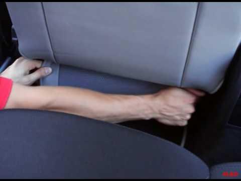 Montage der Sitzbezüge für den Sitz des Fahrers