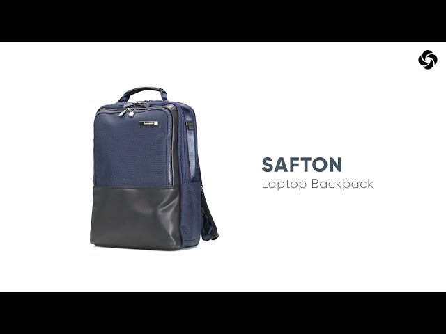 "Safton Laptop Rucksack  15.6"" video 1"