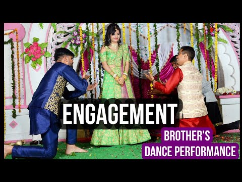 BEST dance performance by bride  Brothers | Amazing Performance |Sangeet | Wedding |ENGAGEMENT