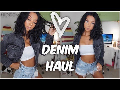 I FOUND THE BEST DENIM BRAND!   Hidden Jeans Try-On  Haul   Lexi Luxury