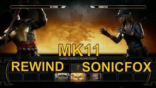 SonicFox (Sonya) vs Rewind (Raiden) - Mortal Kombat 11 Exhibition match - MK11
