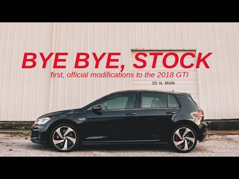 FIRST MODS TO THE 2018 VW GTI! (WHEELS & SUSPENSION)