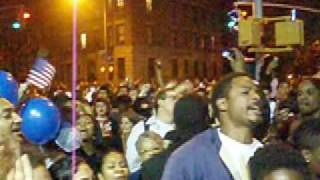 Obama Victory in the Streets of Brooklyn