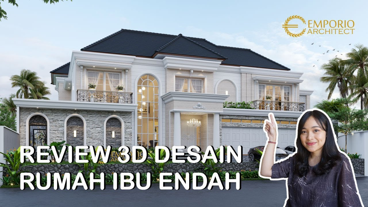 Video 3D Mrs. Endah Classic House 2 Floors Design - Palembang