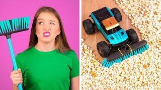 आलसी लोगो के शानदार हैक्स || 123 GO! के आसान मजेदार सफाई के हैक्स और ट्रिक्स - Download this Video in MP3, M4A, WEBM, MP4, 3GP