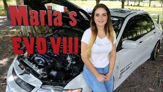 Marias 500HP Evo VIII - The Perfect Car Girl?