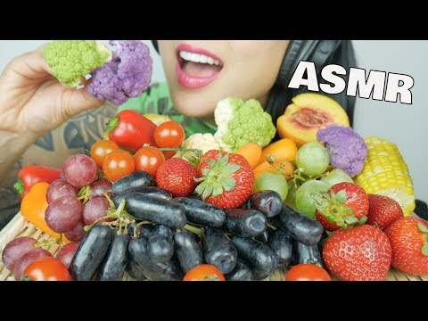 ASMR DELICIOUS FRUITS AND VEGETABLES (SATISFYING CRUNCH EATING SOUNDS) NO TALKING | SAS-ASMR