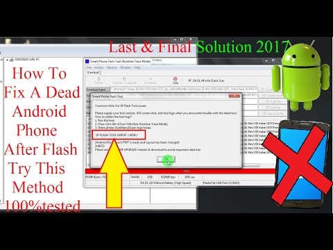How To Repair Dead Android Phone/Dead Android Mobile After Flash/Sp Flash Toll Error Final Solution