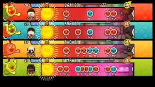 【太鼓の達人 Wii4】KAGEKIYO 源平討魔伝メドレー(裏譜面)【全難易度同時再生】