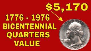 1976 Bicentennial quarters value! 1976 Washington bicentennial  quarters worth money!