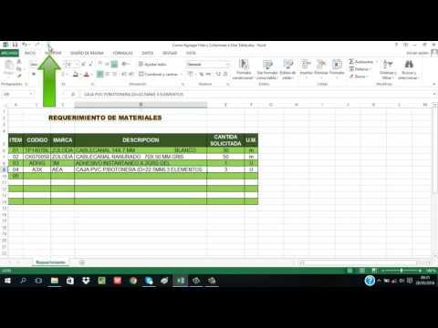 Como Agregar Filas y Columnas a una Tabla Excel 2013