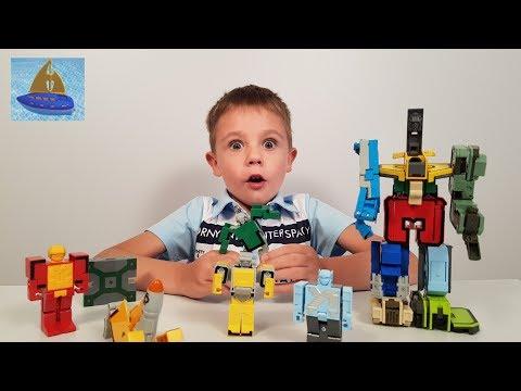 Игровой набор Трансботы Боевой расчет - Цифры Боты | Игрушки трансформеры | Видео для детей