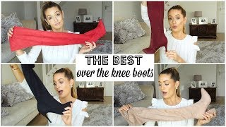 THE BEST OVER THE KNEE BOOTS (that Stay Up..!)