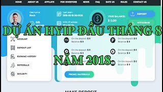 Top HYIP mới ra lãi cao trong đầu tháng 8 năm 2018| Đầu tư online 2018
