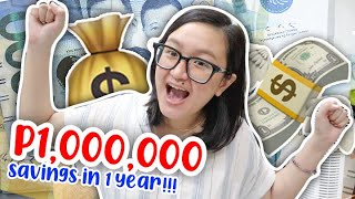 I SAVED UP ONE MILLION PESOS IN ONE YEAR 💸✨ (let's talk personal finance!) | tita talks 🍵