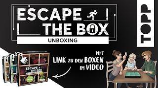 ESCAPE THE BOX – dieses Spiel verwandelt sich in neun Räume   Unboxing & Erklärung