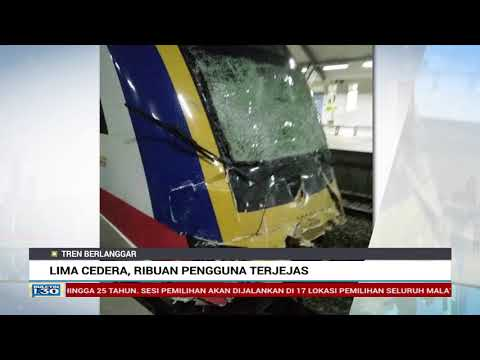5 Cedera, Tren Bertembung