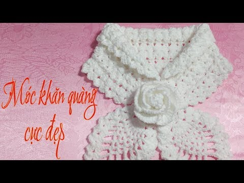 How to Crochet Scarf Tutorial Engsub | Hướng dẫn móc khăn choàng cổ cực đẹp