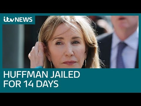 Desperate Housewives star Felicity Huffman jailed in college admissions scandal | ITV News
