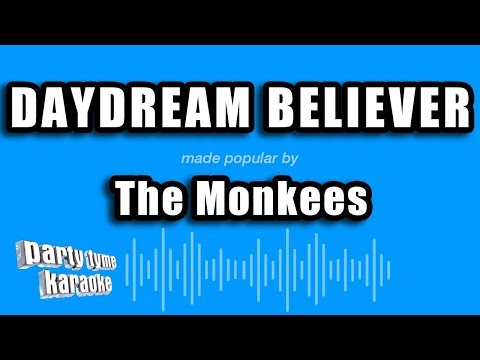 Daydream Believer in the style of The Monkees karaoke video