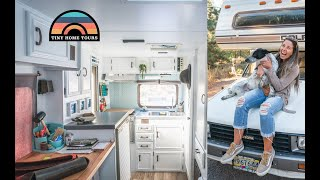She Renovated A 1985 Dolphin Into A Gorgeous Tiny Home On Wheels