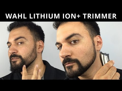 Beard Trimming – Wahl Lithium Ion Plus Trimmer – Model 9818