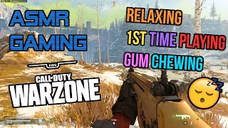 ASMR Gaming | Call of Duty Warzone Relaxing 1st Time Playing Gum Chewing 🎮🎧 Controller Sounds 😴💤