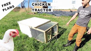DIY CHICKEN TRACTOR (Small Scale) EASY
