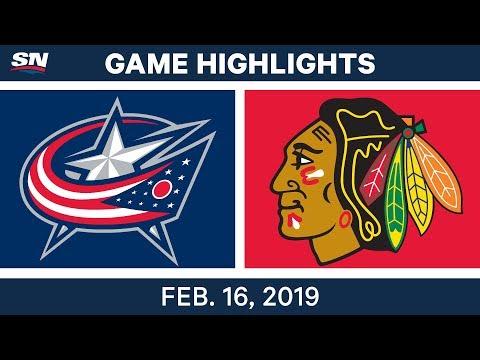 NHL Highlights | Blue Jackets vs. Blackhawks - Feb 16, 2019