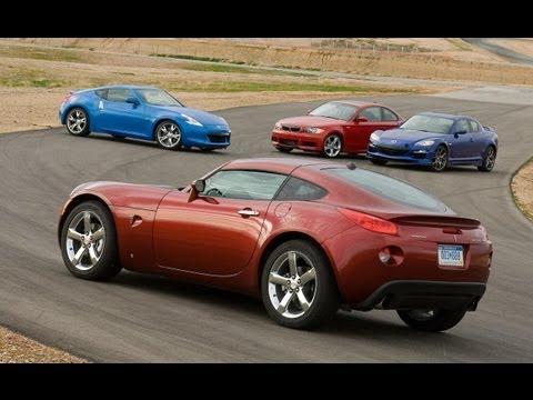 Nissan 370Z vs BMW 135i vs Mazda RX-8 R3 vs Pontiac Solstice GXP