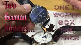 Two German Watches: one is worth 80x the other...