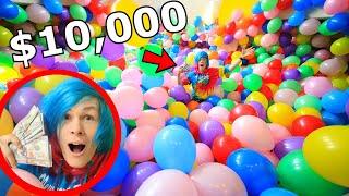 HIDING $10,000 in 10,000 BALLOONS