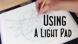 How to Use a Light Pad or Light Box + Huion Light Pad Demo and Review