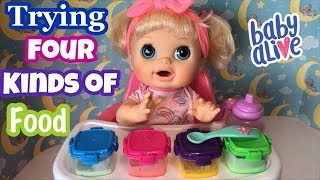 Baby Alive Real Surprises 2012 Feeding 4 Different Kinds Of Baby Food