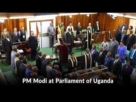 PM Modi at Parliament of Uganda