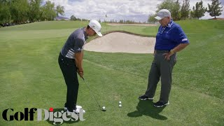 Rickie Fowler on How To Hit a Chip Shot Over a Bunker | Butch Harmon Golf Lessons | Golf Digest