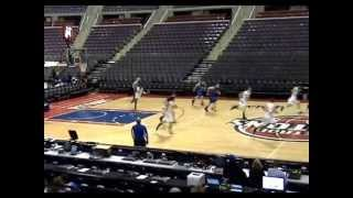 Aaron Hayes #21 Memphis, Michigan Yellow Jackets Palace Game 2013