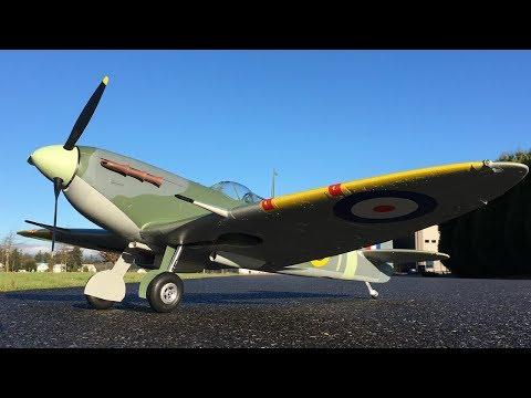 avios-spitfire-mkvb-super-scale-1450mm-rc-warbird-maiden-flight