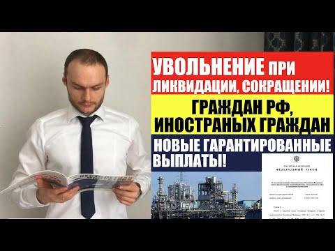 Выплаты при ликвидации организации или сокращении для граждан РФ и иностранных граждан. Юрист.