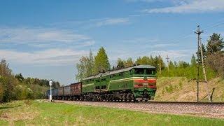 Тепловозы 2ТЭ10М и 2ТЭ10У (Витебск - Смоленск) / 2TE10 (RZD, BCh, Vitebsk - Smolensk line)