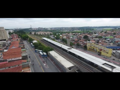 Sobrevoo drone estação de trem Autódromo CPTM SP - Phantom 4